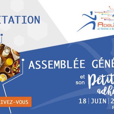 ASSEMBLÉE GÉNÉRALE 2019 - 18 juin 2019 - Inscrivez-vous