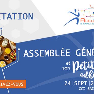 ASSEMBLÉE GÉNÉRALE 2020 - 24 septembre 2020 - Inscrivez-vous