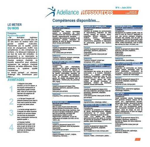 Adeliance Ressources juin 2014 0