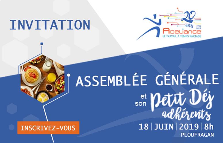 ASSEMBLÉE GÉNÉRALE 2019 - 18 juin 2019 - Inscrivez-vous 0